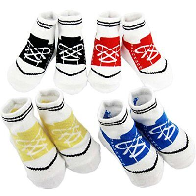 Baby Non-Skid Baby Boy Sneaker Socks, 4 pairs, Infants to Toddlers Xmas New
