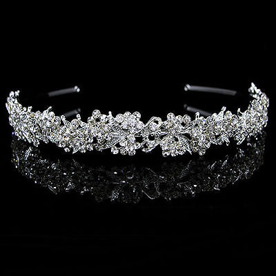Wedding Bridal Prom Pageant Rhinestone Cz Headband Tiara