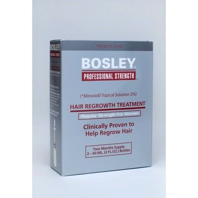 BOSLEY Professional Strength Hair Regrowth Treatment 2 Bottles NEW IN BOX