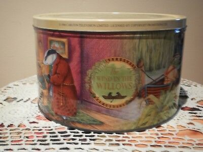 The Wind In The Willows - 1996 - Large Round Biscuit Tin.