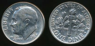 United States, 1987-D Dime, Roosevelt - Uncirculated