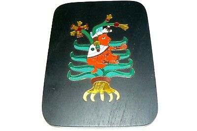 Mayan Style Art Enameled Plaque Cre Art S. A. Mexico Mother Breastfeeding Baby.