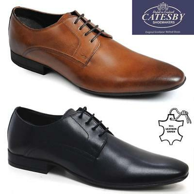 Mens Real Leather Shoes New Italian Smart Formal Wedding Office Party Shoes Size