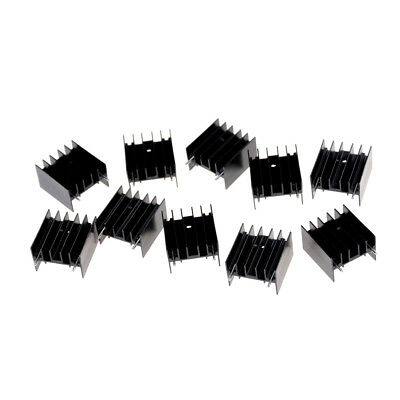 10Pcs 25*23*16MM TO220 Transistor Aluminum Radiator Heat Sink With 2Pin <P