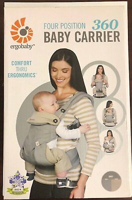 Ergobaby 360 All Carry Positions Award-Winning Ergonomic Baby Carrier Grey-NEW