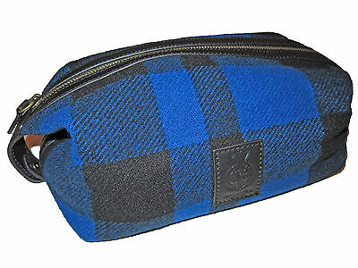 Polo Ralph Lauren Blue Black Buffalo Check Dopp Luggage Toiletry Kit Shaving Bag