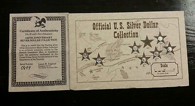 Silver Dollar Miniature collection Providence Mint Sterling Silver vintage