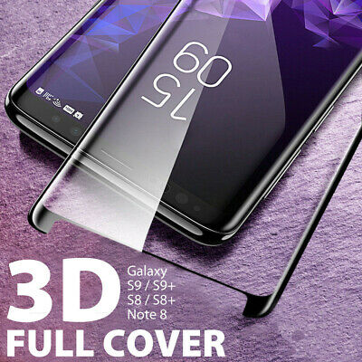 NUGLAS Galaxy S9 S8+ Note 8 Tempered Glass Full Cover Screen Protector Samsung