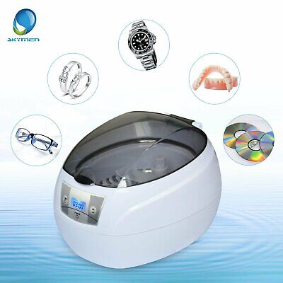 Skymen Ultrasonic Jewelry Cleaner Dental Glasses Coin Silver Sonic Cleaner Bath
