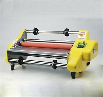 "17.5"" A2 Roll Laminator Four Roller Hot Cold Laminating Machine For 442Mm Pap th"