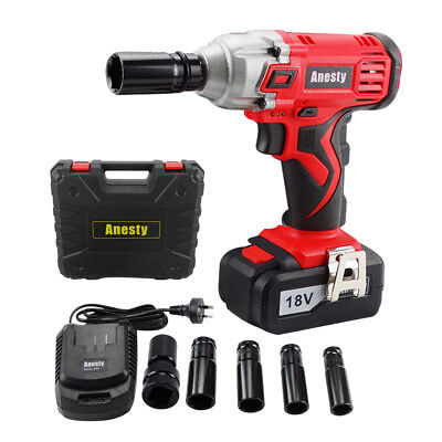 "18V Lithium Ion Cordless Impact Wrench Li-ion 1/2"" Drive Ratchet Rattle Nut Gun"
