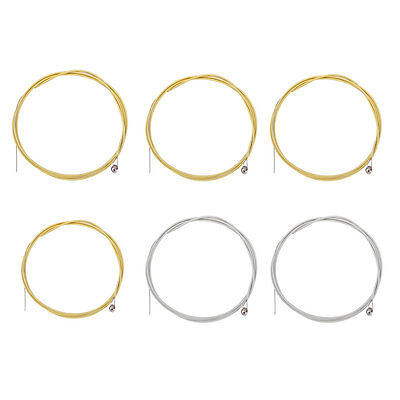 6pcs Metal Steel Strings for Acoustic Guitar E A D G h(b) and e string 5SET BS