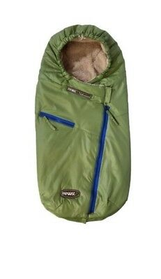 New 7AM Enfant Papoose Light Weight Baby Bunting Green Foot Muff M/L 18m-3T