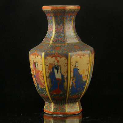 Chinese Enamel Porcelain Hand Painted  Vase Made During The Kangxi Period  RF005