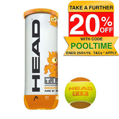 Head TIP 3 Tennis Balls/Ball Can Game/Play/Sports/Training Kids/Children 8-9yr