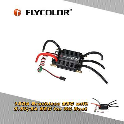 Flycolor Waterproof 150A Brushless ESC with 5.5V/5A BEC for RC Boat Z3Y4