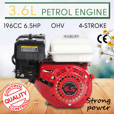 196CC 6.5HP 4-Stroke Petrol Stationary Engine Air-Cooled Motor OHV Recoil Start