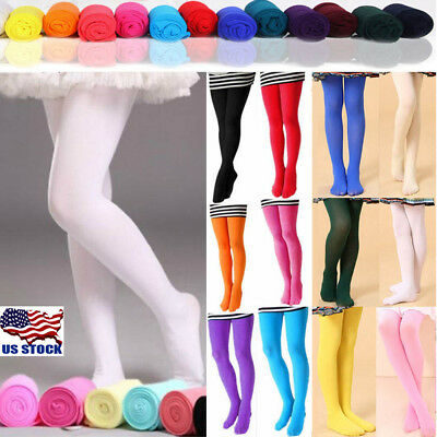 Girls Kids Tights Soft Velvet Pantyhose Hosiery Ballet Dance Socks Candy Colors