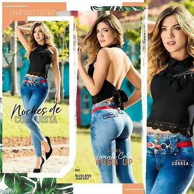 JEANS COLOMBIANOS K517 Authentic Colombian Push Up Jeans, Jean Levanta Cola