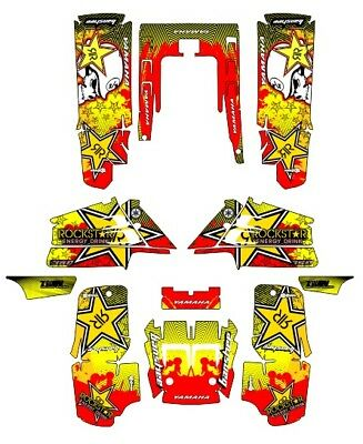 Banshee Graphics full coverage decal sticker kit #9500 Yellow Zombie Skull