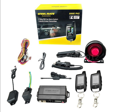 Steelmate 888E 2 Way LCD Car Vehicle Alarm Keyless Entry Start System Alarm