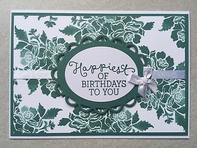 Handmade Birthday Card | Stampin Up | Floral | Tranquil Tide