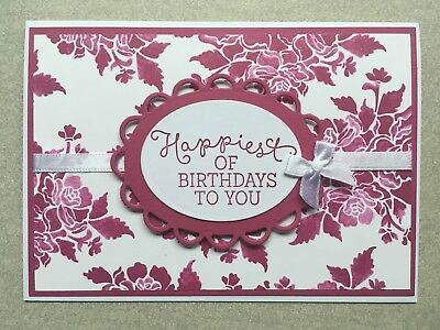 Handmade Birthday Card | Stampin Up | Floral | Berry Burst