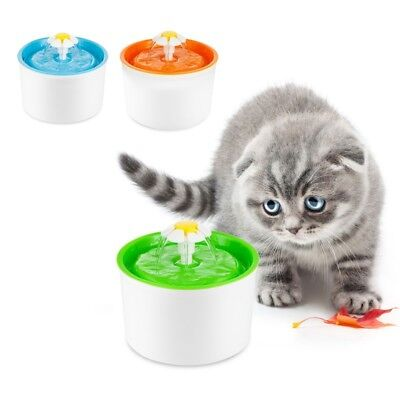1.6L Flower Style Automatic Electric Pet Dog Cat Water Fountain Drinking Bowl
