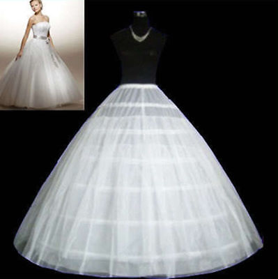 New 3 6 Hoop Crinoline Petticoat Wedding Dress Crinoline Underskirt Bridal Gown