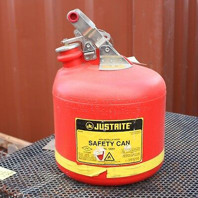 JustRite Non-Metallic Body SAFETY CAN 9.5L No. 14251 Petrol Container Jerry Can