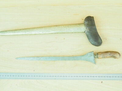 Old Large Size Tribal Knife, Sword & Scabbard (J605)