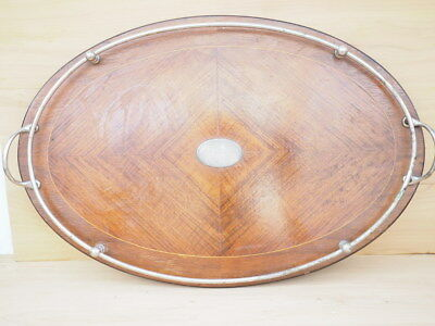 ANTIQUE OLD LARGE SIZE SERVING TRAY, DRINKS TRAY (i280)