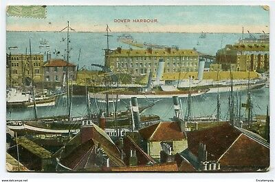 CPA-Carte postale Royaume-Uni - Dover - Harbourg - 1909 (CP3243)