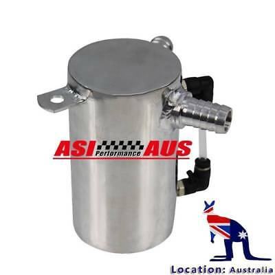 0.5L Aluminum Polished Oil Catch Can Breather Tank Reservoir