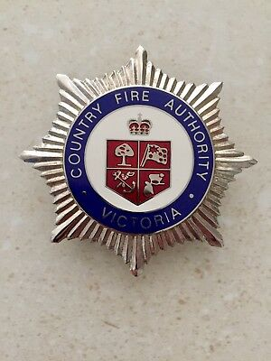 Obsolete CFA Country Fire Authority Cap Badge