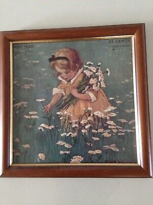 Gathering Flowers In The Meadow Jessica Willcox Smith Embroidered Crewel Print