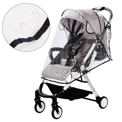 Universal Baby Stroller Pram Rain Cover Pushchair Wind Shield Transparent UV
