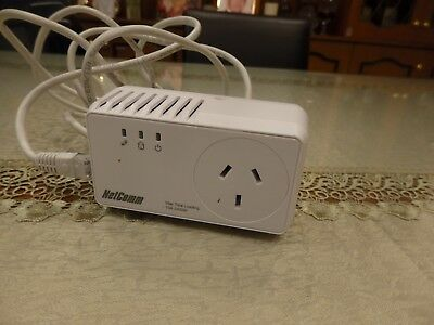 AS NEW Netcomm NP204 Powerline Adapters /w AC Pass-through up to 200Mbps