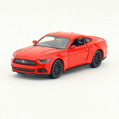 1:36 2015 Ford Mustang GT Diecast Model Toy Car Pullback Matte Black New in Box
