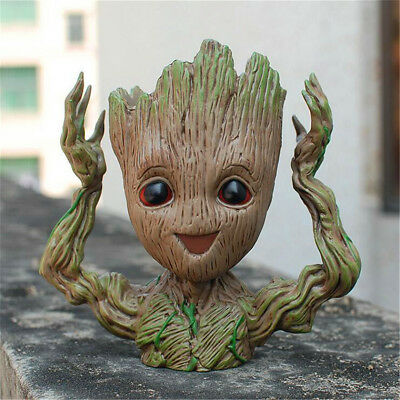 Guardians of The Galaxy Baby Groot Figure Flowerpot Pen Flower Pot Toy Gift  XA