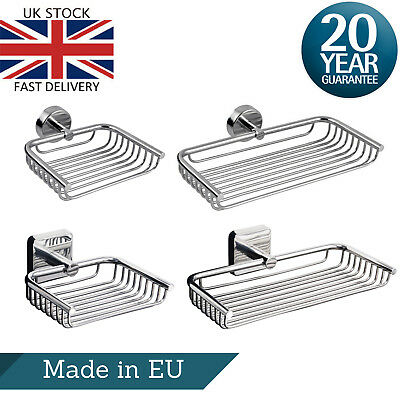 Stainless Steel Soap Dish Wire Tray Basket Wall Mount Adhesive Shower Caddy