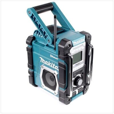 Makita DMR106 Jobsite Radio With Bluetooth & USB Charger Blue Edition