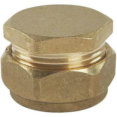 22mm Brass Compression End Caps End Stop Choose from 8mm to 54mm *