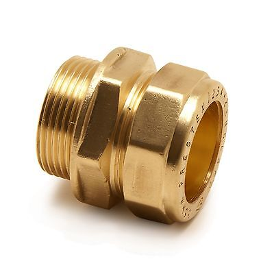 "22mm Compression x 1/2"" Inch BSP Male Iron Adaptor / Coupler 