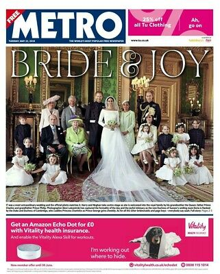 7 Uk Newspapers 20-5-2018 Meghan Markle & Prince Harry - Official Wedding Photos