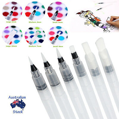 6PCS Artist Ink Water Brush Pen Size for Watercolor Calligraphy Pigment Painting