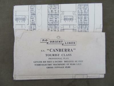 1961-1997 S.S. Canberra-P&O Orient Lines-Ocean Liner Tourist Class Provissional