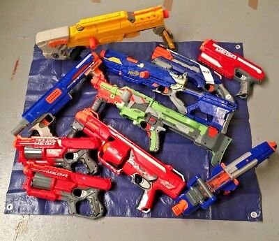 Nerf Guns Bundle Joblot Of Spares And Repairs NOT WORKING GUNS 10 IN TOTAL D27