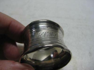 Antique Sterling Silver Napkin Ring Mono'd