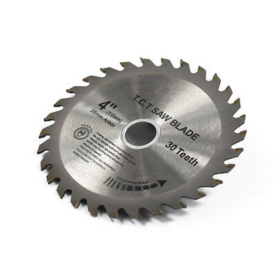 "Tct 30 Tooth Blade Disc For Wood Mini Circular Saw 110Mm 4"" Inch 20Mm 16Mm Bore"